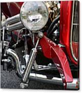 Red Hot Rod- Light And Chrome Canvas Print