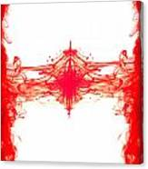 Red Ink Abstract Canvas Print