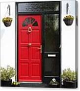 Red Irish Door Canvas Print