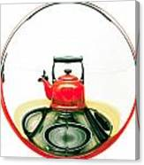 Red Kettle Canvas Print