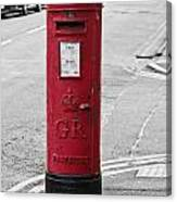 Red King George V Postbox Canvas Print