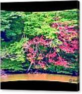Red Leaves Pano Canvas Print