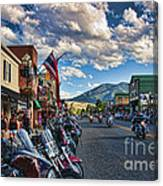 Red  Lodge Motorcycle Rally Canvas Print
