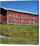 Red Mail Pouch Barn Canvas Print