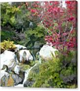 Red Maple Above The Falls Canvas Print