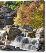 Red Maple Rill Waterfall Canvas Print