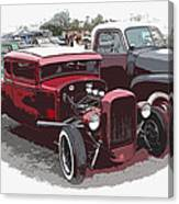 Red Model A Coupe Canvas Print