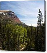 Red Mountain Blue Sky Canvas Print