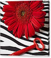 Red Mum And Red Key Canvas Print