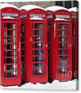 Red Phone Boxes Canvas Print