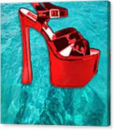 Red Platform Divers Canvas Print