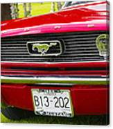 Red Pony Car Canvas Print