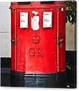 Red Post Box Canvas Print