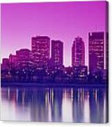 Red River And Downtown Winnipeg Canvas Print