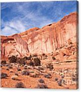 Red Rock And Blue Skies Canvas Print