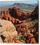 Red Rock Canyon At The Tank Canvas Print
