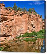 Red Rock Formation In The Kaibab Plateau In Grand Canyon National Park Canvas Print