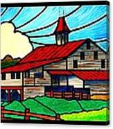 Red Roof Barn On Osceola Springs Road Canvas Print