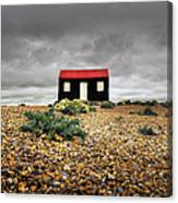 Red Roofed Hut Canvas Print