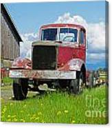 Red Rusted Semi Canvas Print