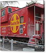 Red Sante Fe Caboose Train . 7d10325 Canvas Print