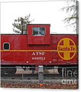 Red Sante Fe Caboose Train . 7d10328 Canvas Print