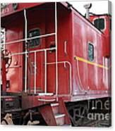 Red Sante Fe Caboose Train . 7d10330 Canvas Print