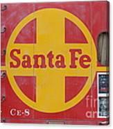 Red Sante Fe Caboose Train . 7d10333 Canvas Print