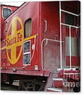 Red Sante Fe Caboose Train . 7d10334 Canvas Print