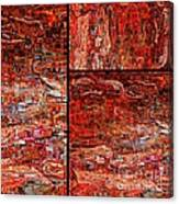 Red Splashes Swishes And Swirls - Abstract Art Canvas Print