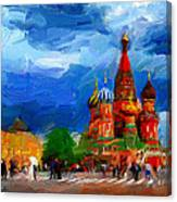 Red Square Moscow Canvas Print