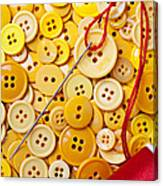 Red Thread And Yellow Buttons Canvas Print