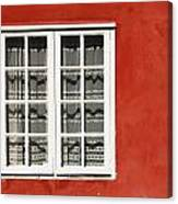 Red Timber House And Window Frame In Canvas Print