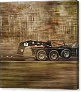 Red Truck In North Carolina Canvas Print
