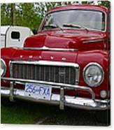 Red Volvo Canvas Print