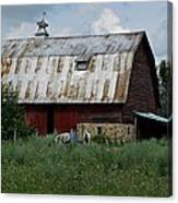 Red Weathered Barn Canvas Print
