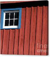 Red White And Blue Window Canvas Print