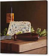 Red Wine And Bleu Cheese Canvas Print