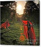 Red Witches Dance Canvas Print
