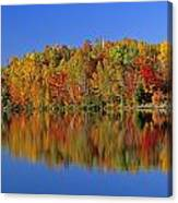 Reflected Autumn Trees In Simon Lake Canvas Print