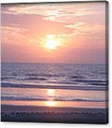 Reflected Beach Sunrise Canvas Print