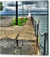 Reflecting At The Erie Basin Marina Canvas Print