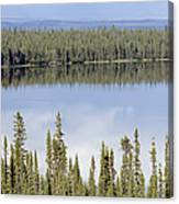 Reflection In Willow Lake Near Copper Canvas Print