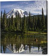 Reflection Lake And Mount Rainier Canvas Print