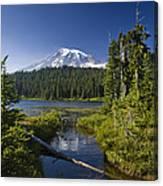 Reflection Lake With Mount Rainier Canvas Print