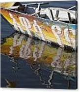 Reflection Of Boat In Lake Ethiopia Canvas Print
