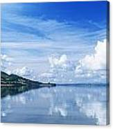 Reflection Of Clouds In Water, Lough Canvas Print