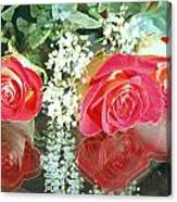 Reflection Red Roses Canvas Print