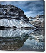 Reflections At Bow Lake Canvas Print