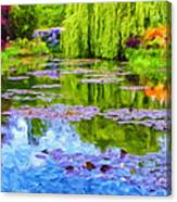 Reflections At Giverny Canvas Print